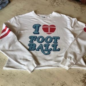 I Love Football Cropped Tee